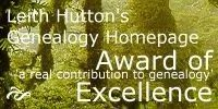 Leith Hutton's Genealogy Award of Excellence